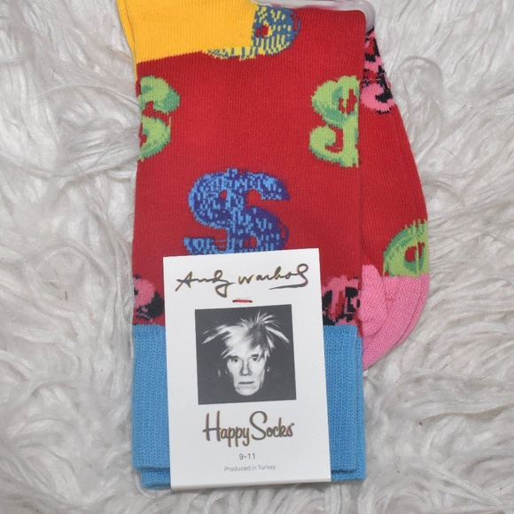 Happy Socks Womens Combed Cotton Colorful Sock Size 9-11 Shoe Sz 5.5-9.5 Nice